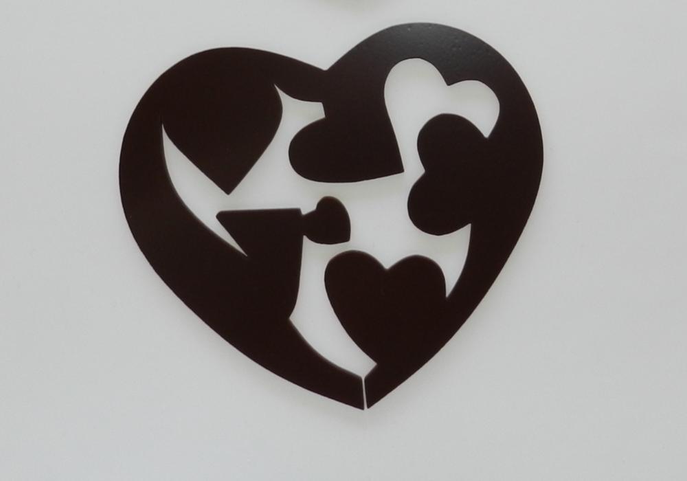 Corazón chocolate